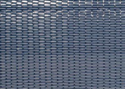 Strandkorb Geflecht NADEL blau-weiss