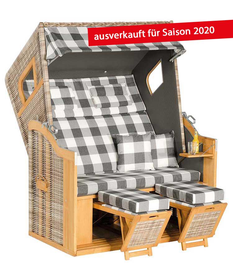 """Strandkorb Halblieger """"Rustikal 205 Z Comfort XL"""""""