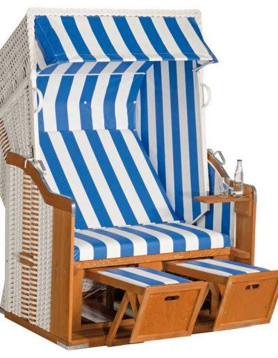 Gastro-Strandkorb blau-weiß