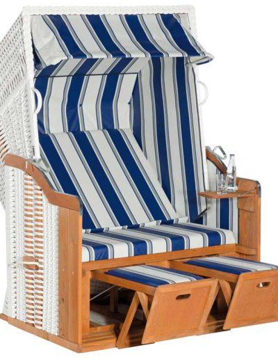 Gastro-Strandkorb dunkelblau-weiß
