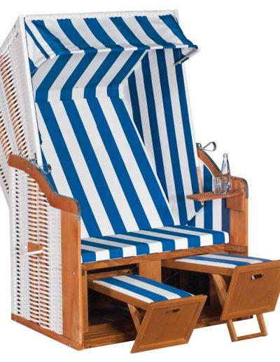 Gastro-Strandkorb blau weiß