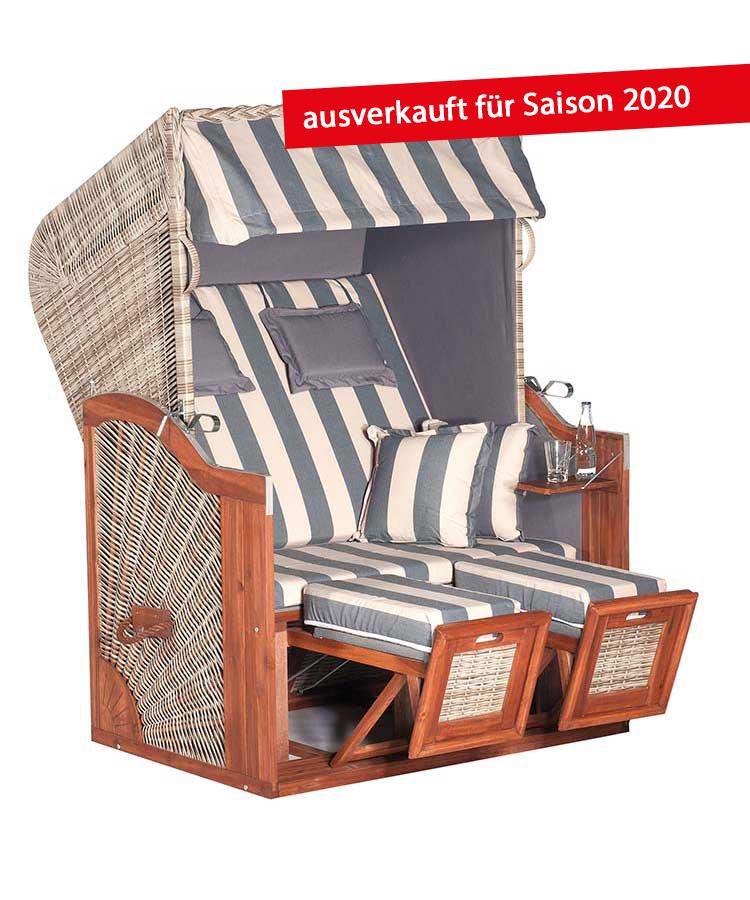 """Strandkorb """"Rustikal 285 Z SUN Edition 1207"""" 3/4-Lieger"""